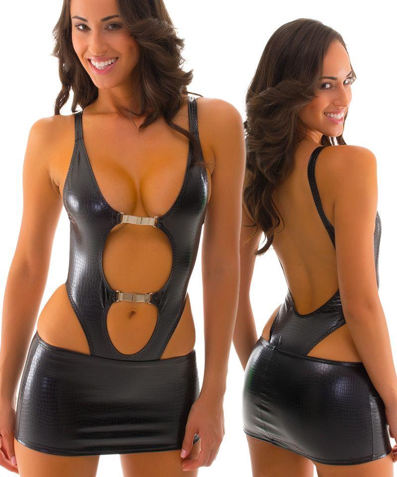 742db1f6ba Micro Mini Skirt in Black Mambo Snakeskin Stretch Vinyl | women ...