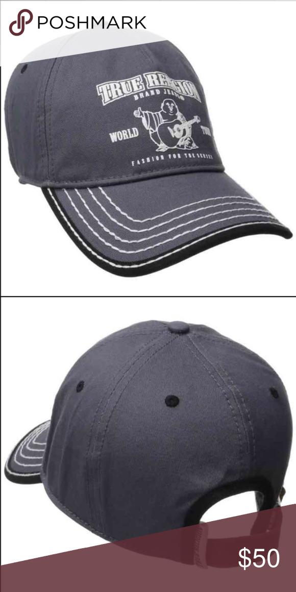 New True Religion Unisex Gray Hat Cap True Religion Unisex Hat Color  Gray  Size  Adjustable True Religion Accessories Hats 14477ba5c7ef