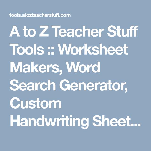 A to z teacher stuff tools worksheet makers word search a to z teacher stuff tools worksheet makers word search generator custom ibookread PDF