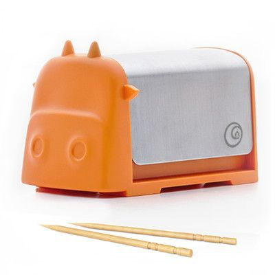 Darling Little Cattle Toothpick Dispenser Amazing Whimsical Design Looks  Like Creative Colorful Cartoon Cow Press The Top And Toothpick Comes Out  Back For ...