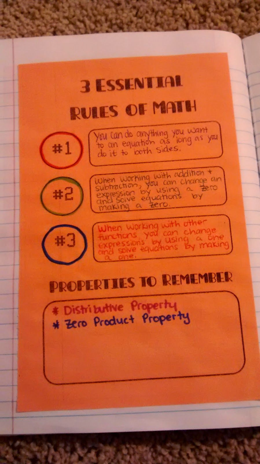 3 Essential Rules Of Math Algebra Interactive Notebooks Math Interactive Notebook Interactive Notebooks What are three rules for adding and