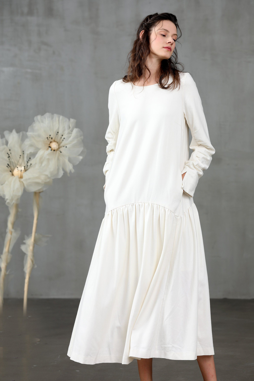 Pin On Linennaive Wool Dress