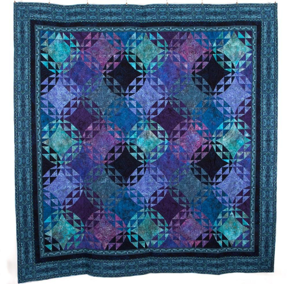 Rjr Malam Batik Echoes By Jinny Beyer Quilt Quilting Kit Includes Fabric Pattern Quilts Art Quilts Triangle Quilt