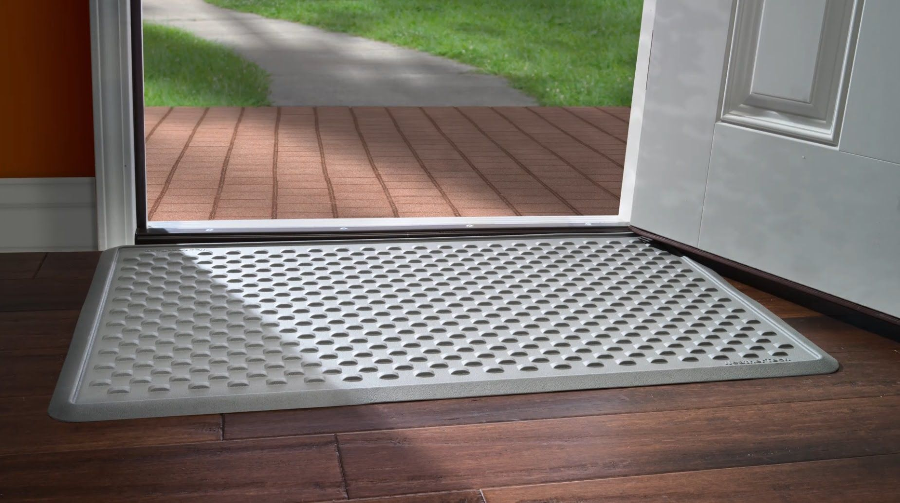 WeatherTech® now makes doormats to protect your home. Both