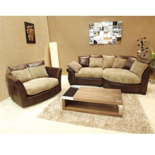 Eternal Brown N Mocha Style Fabric Chaise Corner Sofa With Matching Swivel Cuddle Chair With Images Chaise Corner Corner Sofa Chocolate Sofa