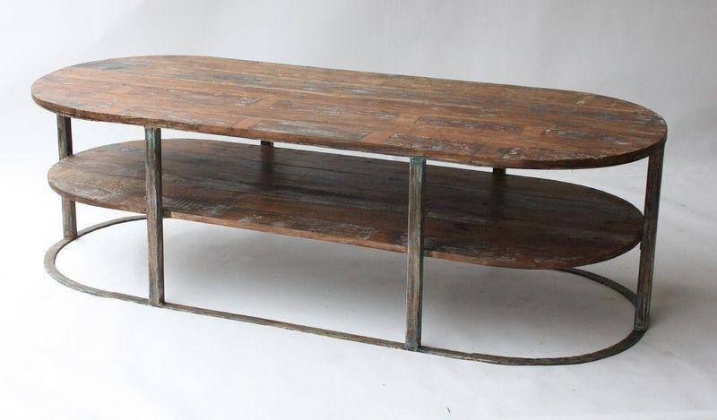 table de salon industrielle vintage – vente de tables basse pas