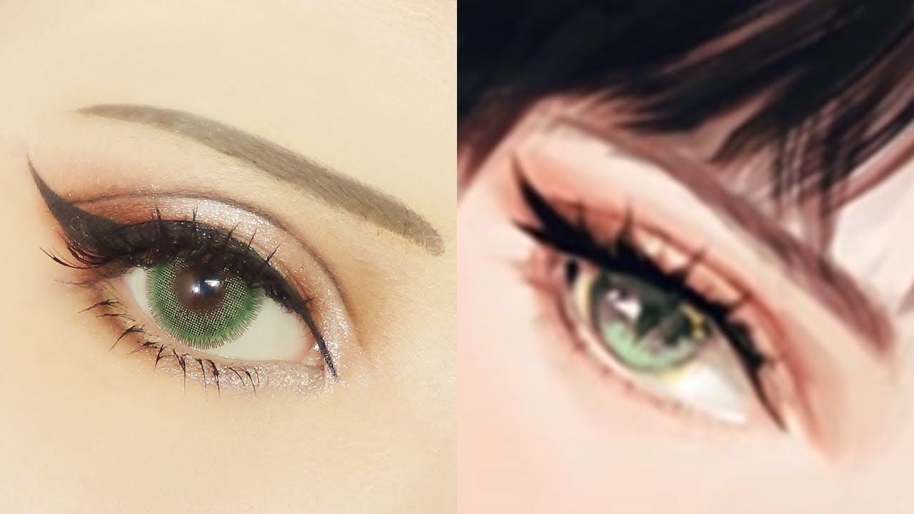 Cat Eye Make キャットアイメイク Tutorial Anime Eye Makeup 262 Anime Eye Makeup Cat Eye Makeup Tutorial Cat Eye Makeup