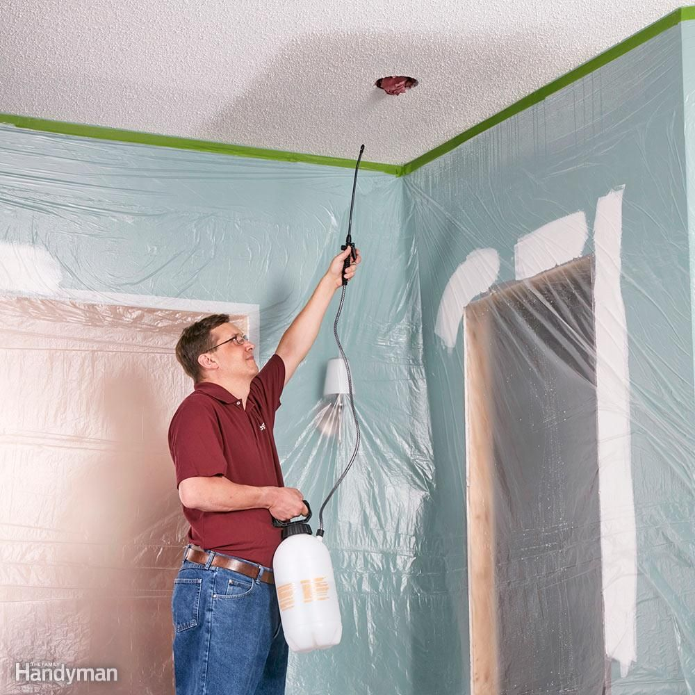 11 Tips On How To Remove A Popcorn Ceiling Faster And Easier Popcorn Ceiling Removing Popcorn Ceiling Ceiling Texture