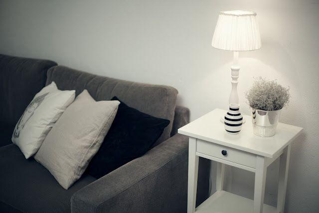 My TV room. Lamp shade Tine K. Vase Omaggio from Kähler.