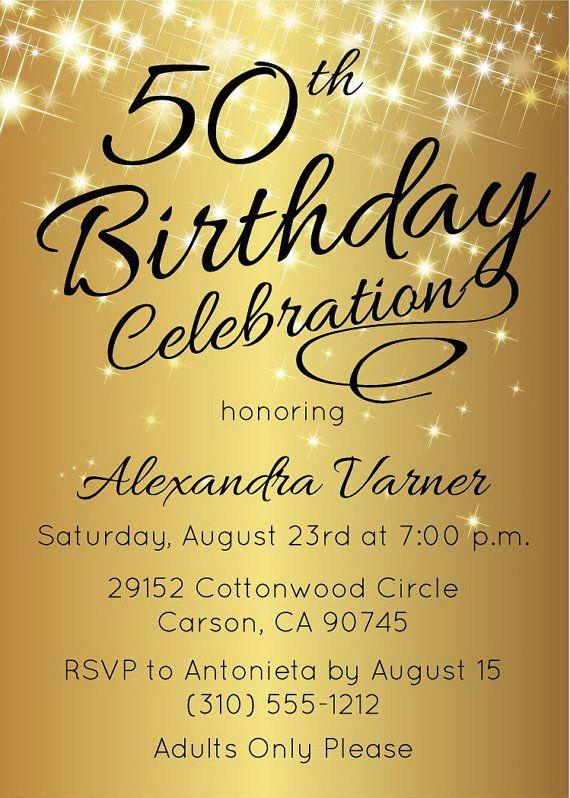 50th Birthday Invitation Template Elegant Birthday Invitation Etsy 50th Anniversary Invitations 50th Wedding Anniversary Invitations 50th Wedding Anniversary Party