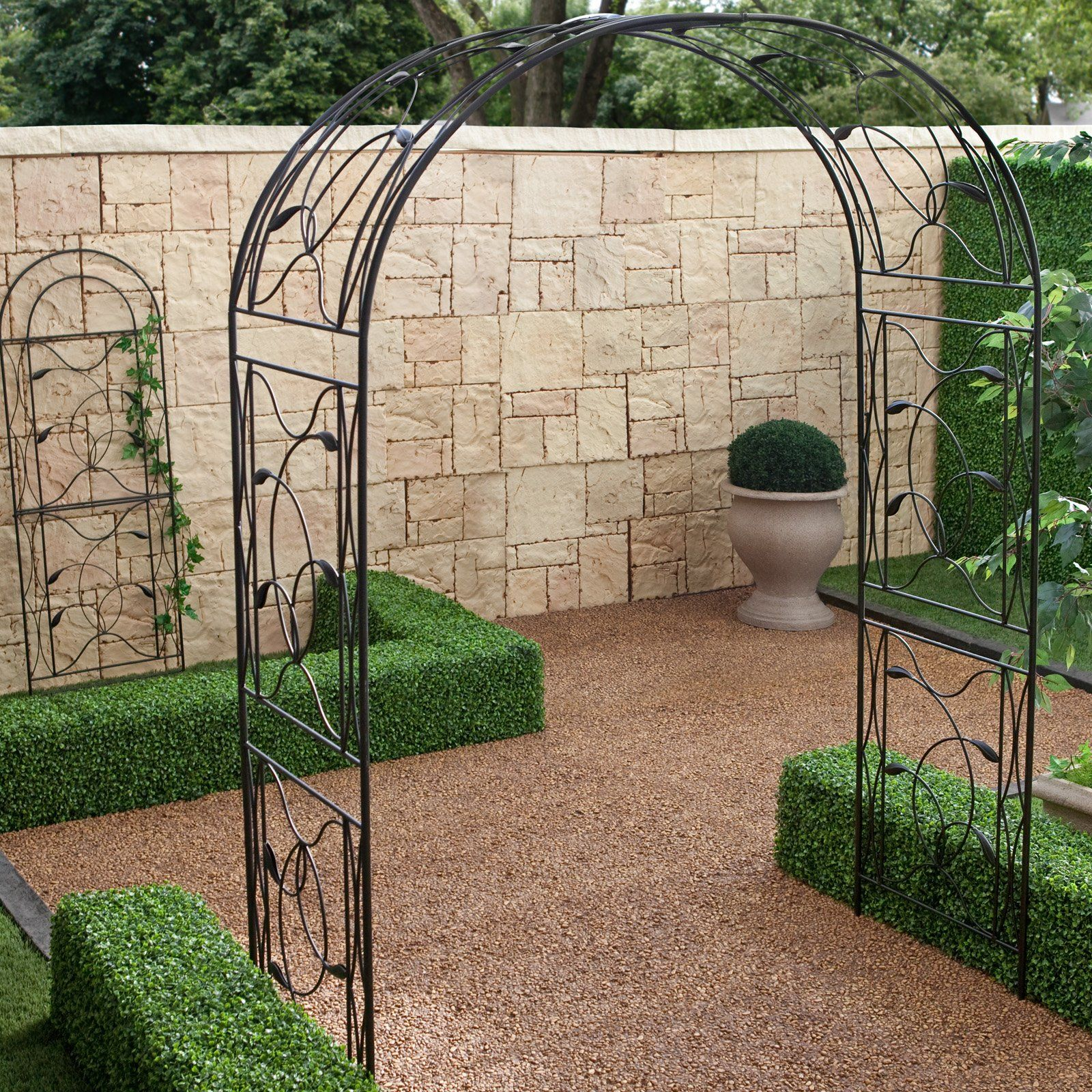 Have to have it coral coast willow creek 2 piece metal for Metal garden trellis designs