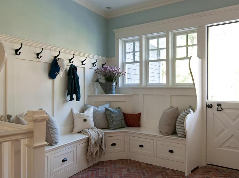 Entryway Corner Bench Storage Cottage Style Mudroom Home Home