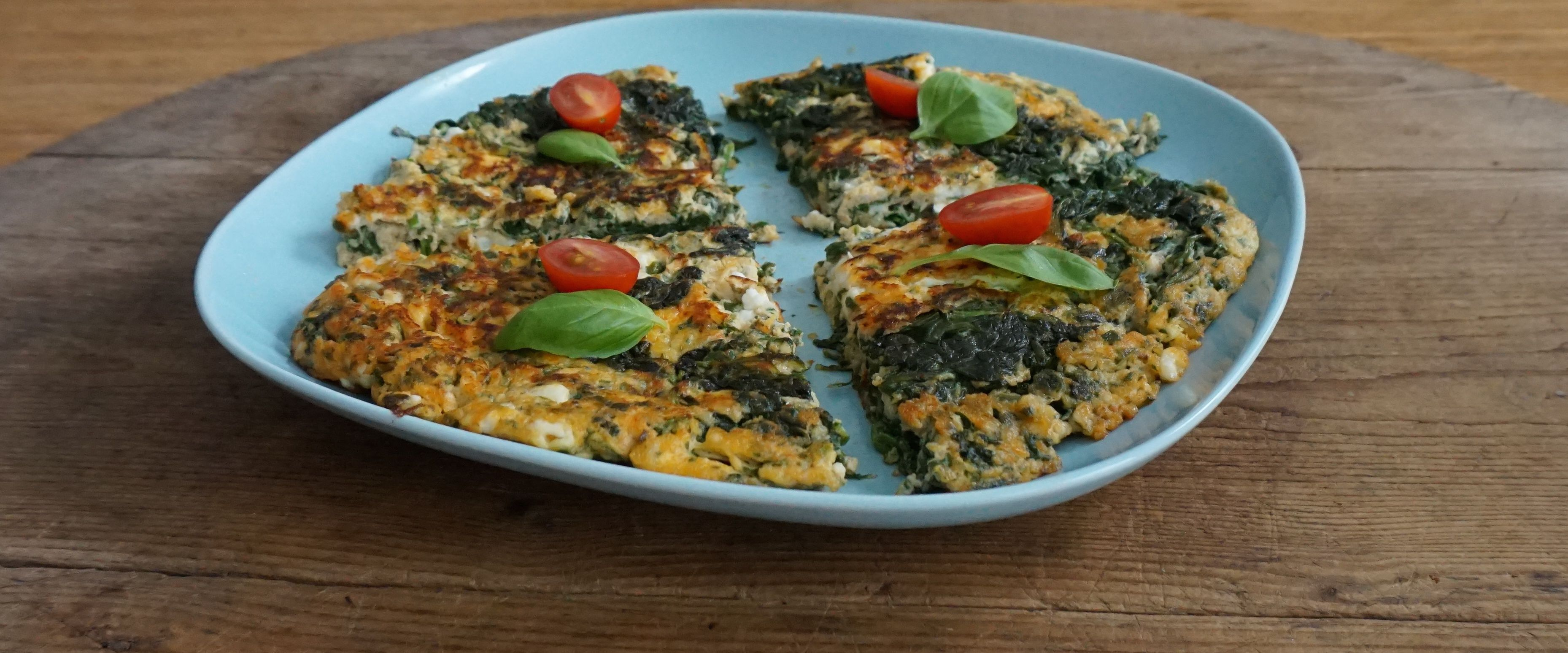 This Spinach Feta Omelette with fresh basil is super delicious and very quick to prepare. It's great for breakfast or lunch and even as a light dinner with a green salad on the side.
