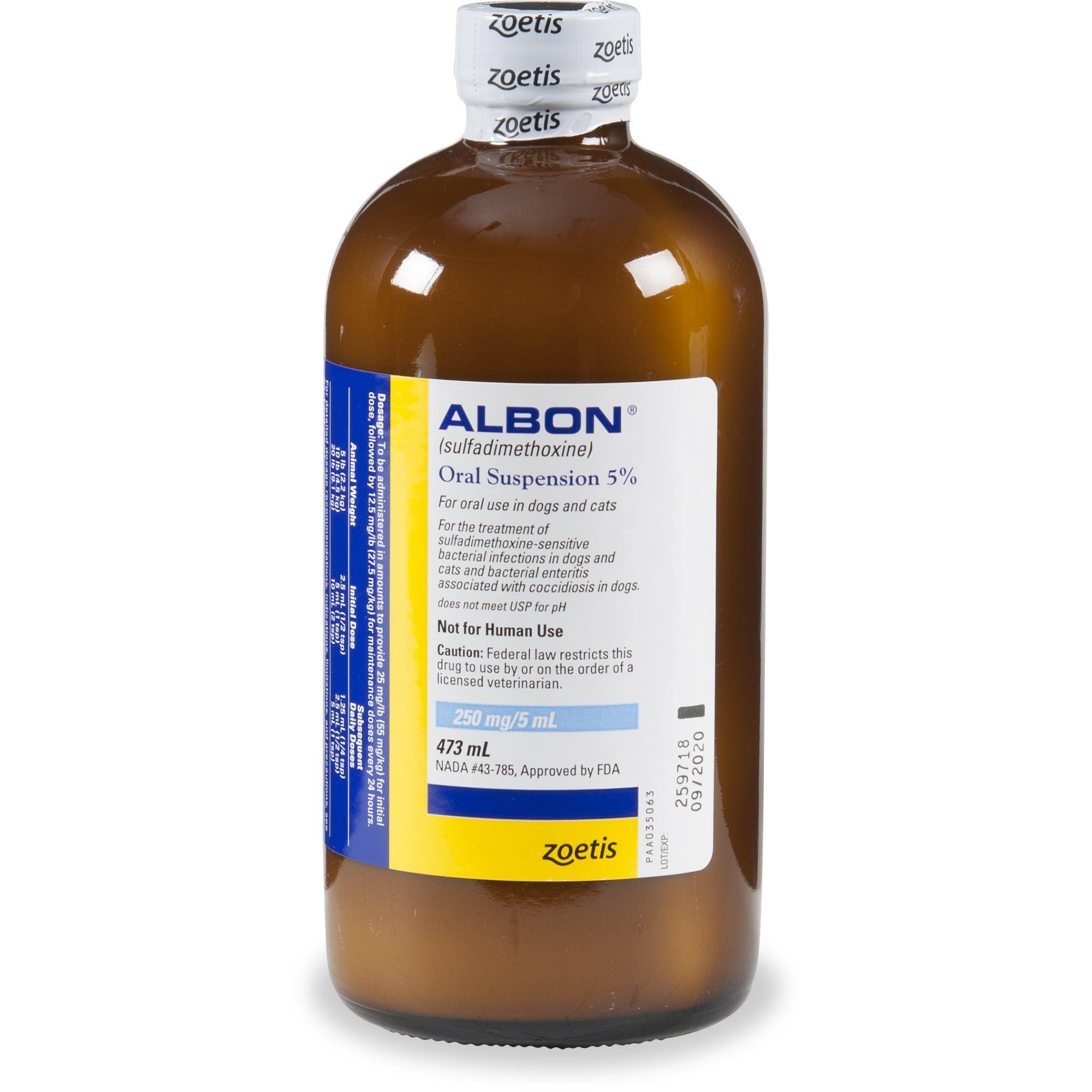 Albon Oral Suspension 16 Fl Oz Vet Clinics Wild Bird Food Drinking Water