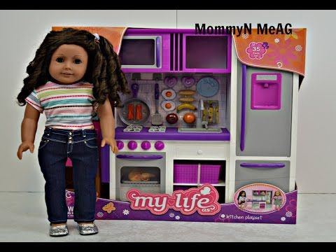 American Girl My Life As Kitchen Play Set Opening Review By Request Youtube American Girl American Girl House Playset