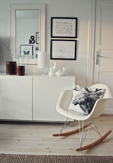 Nothing More Beautiful Than A White Eames Rocking Chair