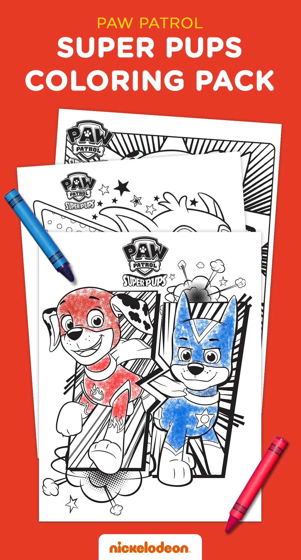 Super Pups Coloring Pack in 2020 Paw patrol coloring