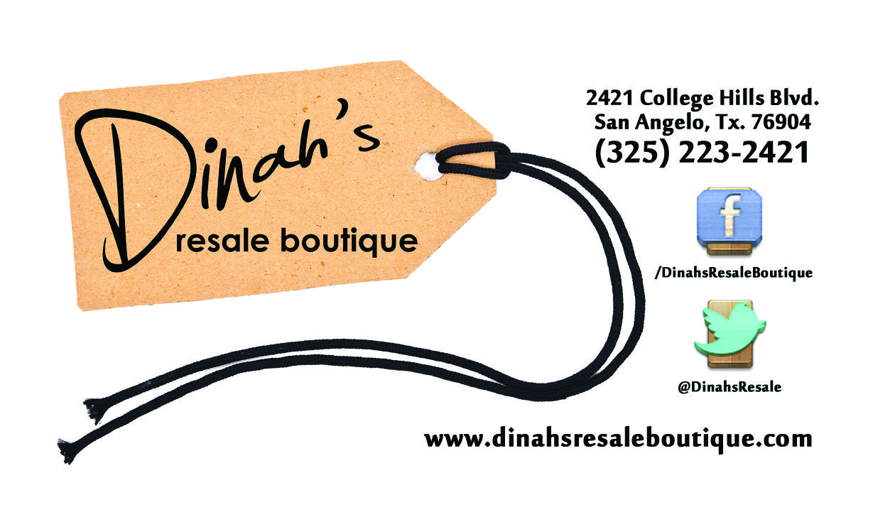 Business card design for dinahs resale boutique in san angelo business card design for dinahs resale boutique in san angelo texas reheart Gallery