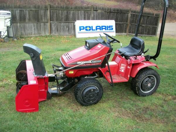 Garden Tractor Counterweights : Honda rt with wheel weights and snowblower tractors