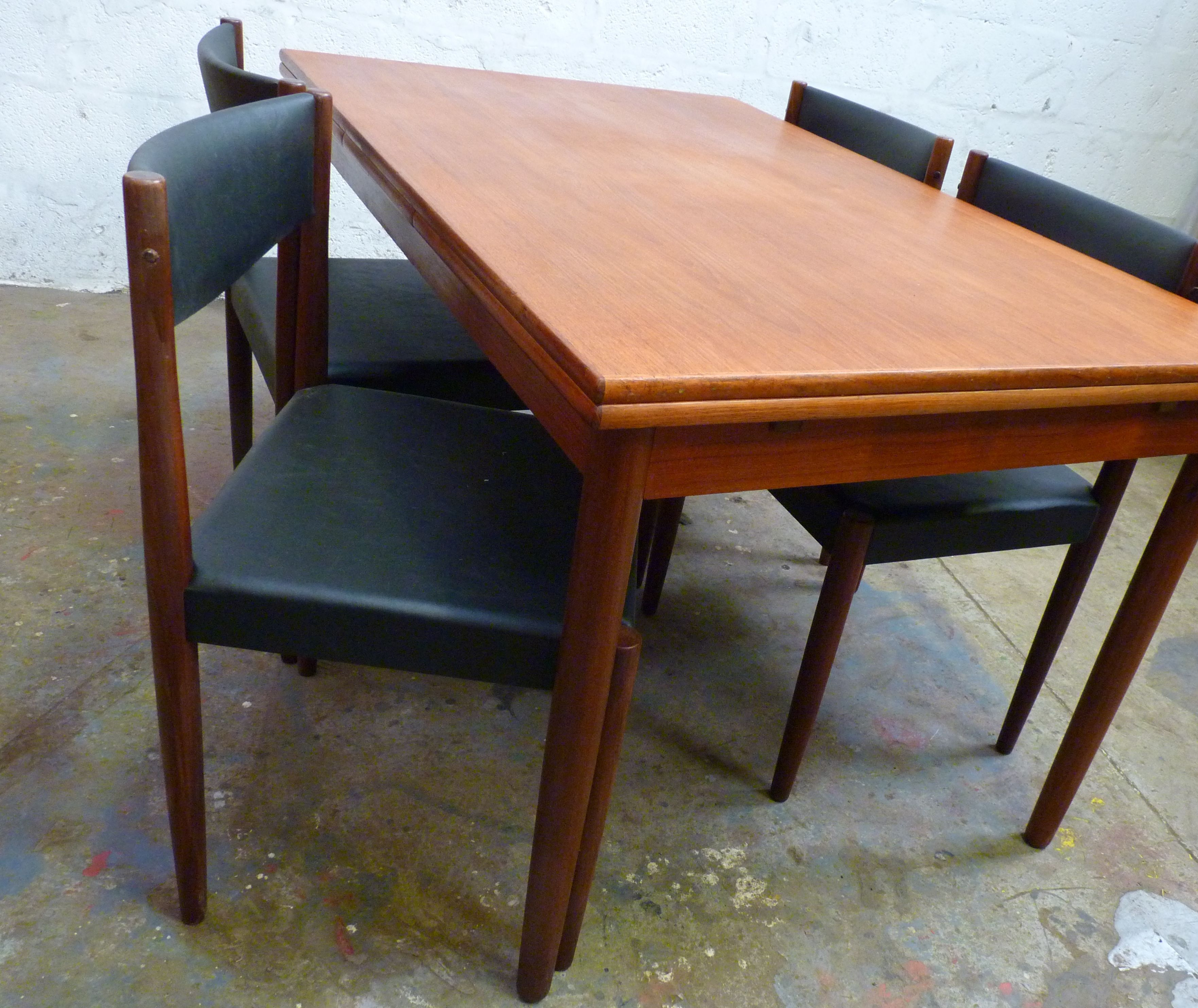 1960s Danish Table Frem Rojle Poul Volther Chairs Danish Table Apartment Dining Table
