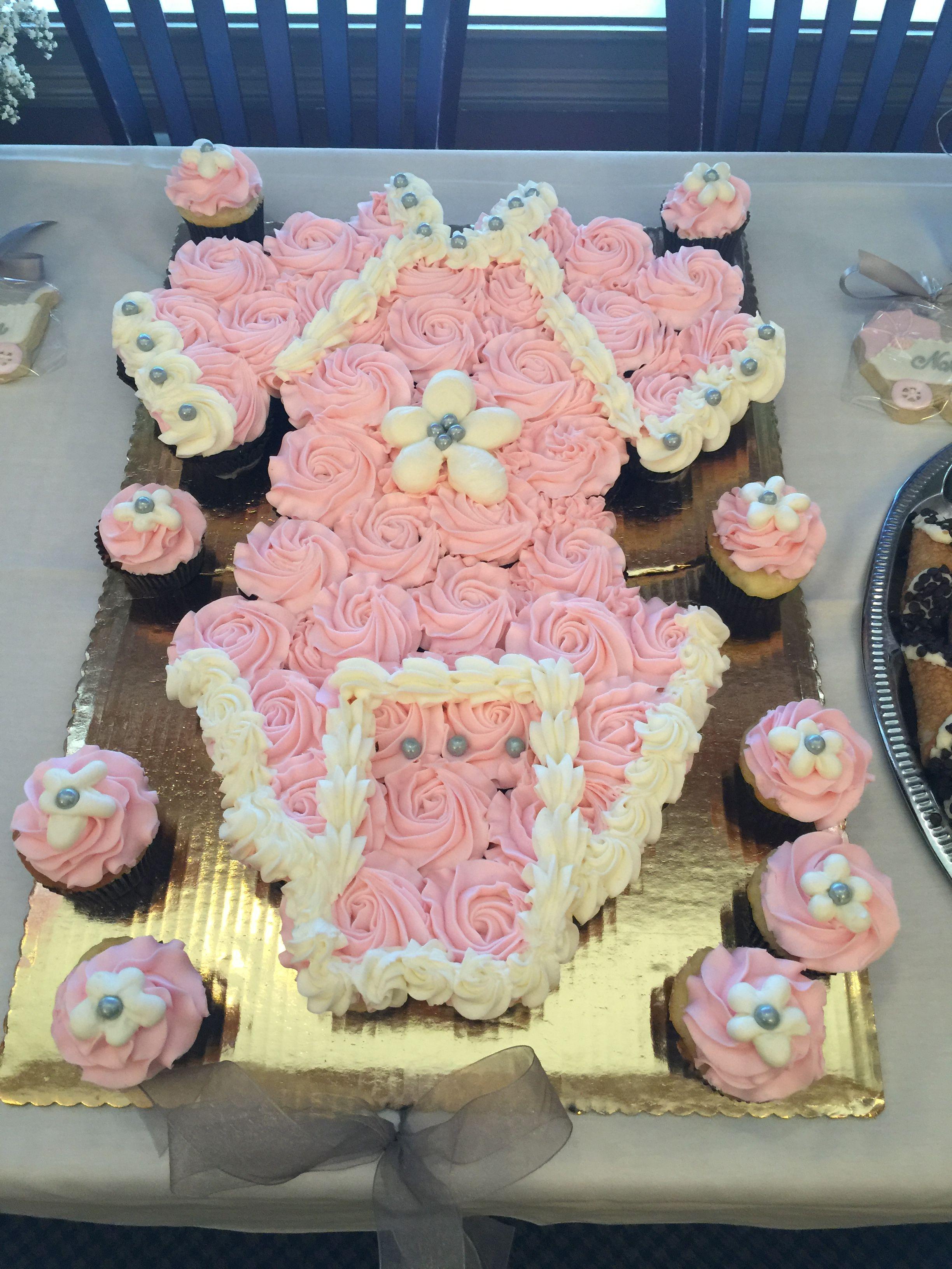 Baby Shower Cupcake Cake Diy Baby Girl Baby Shower Cupcake Cake