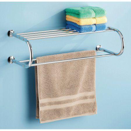 Walmart Bathroom Towel Racks.Whitmor Chrome Towel Rack With Shelf Walmart Com My Rv