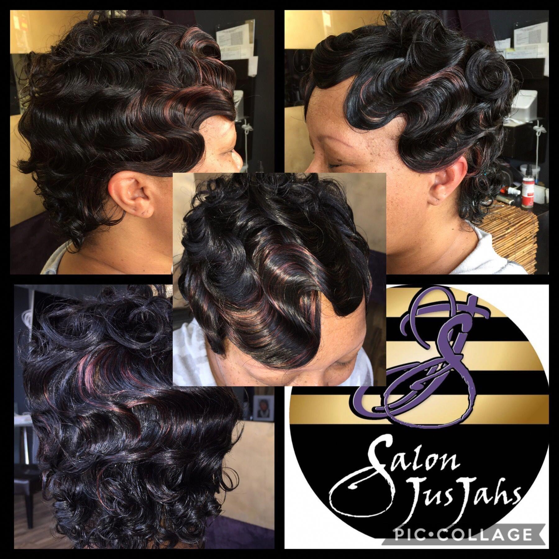Curls fingerwaves salonjusjahs baltimoresalons