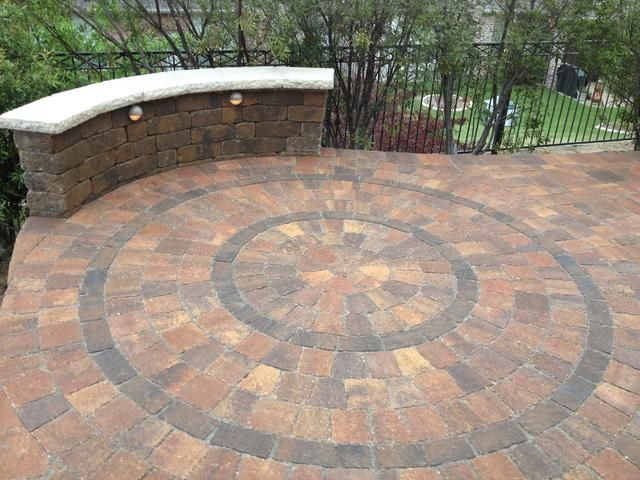 Interlocking Paver Circle Kit Design. Installed By Precision Pavers In  Plano,TX.
