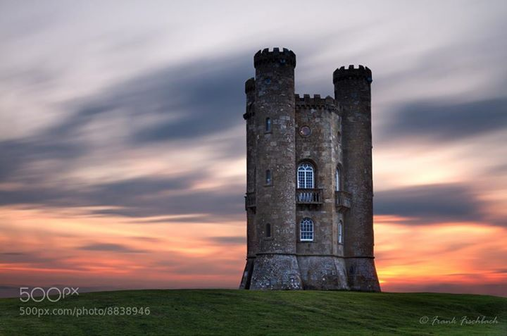 Broadway Tower at dusk Cotswolds UK - photo by fisfra / 500px
