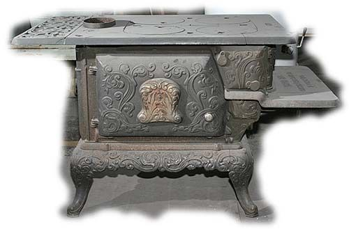 Antique Heaters and Stoves For Sale - Never Fail Walkaround Wood Stove - Wood Stoves Relax In The Ambient Warmth Of A Wood Burning Stove