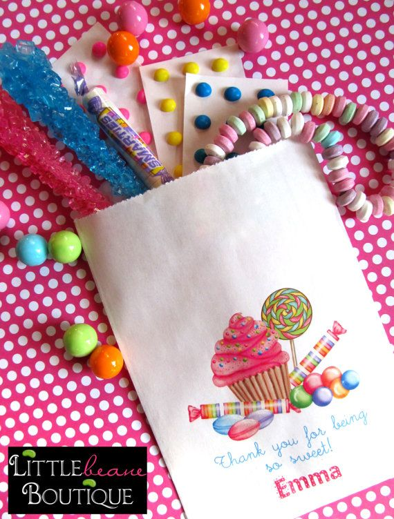 Personalized Candy Bags Favor Buffet Birthday Party Sweets Treats Choose Any Design In My Set Of 24