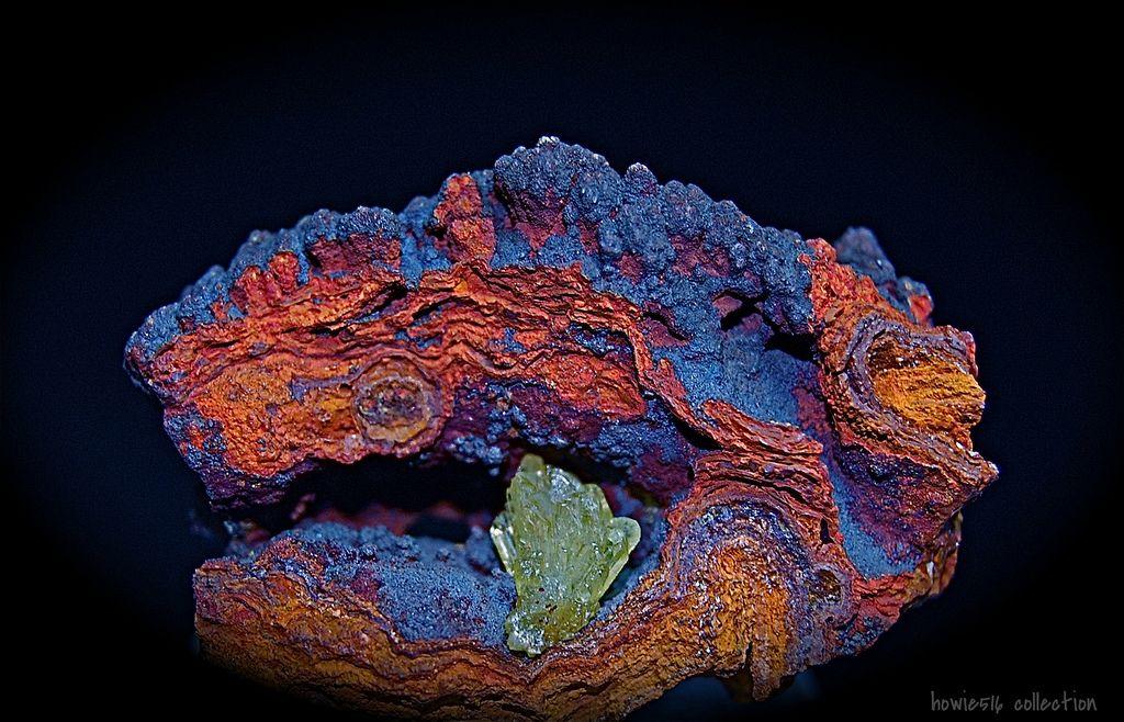 Adamite crystals on matrix, Durango, Mexico | by howie516