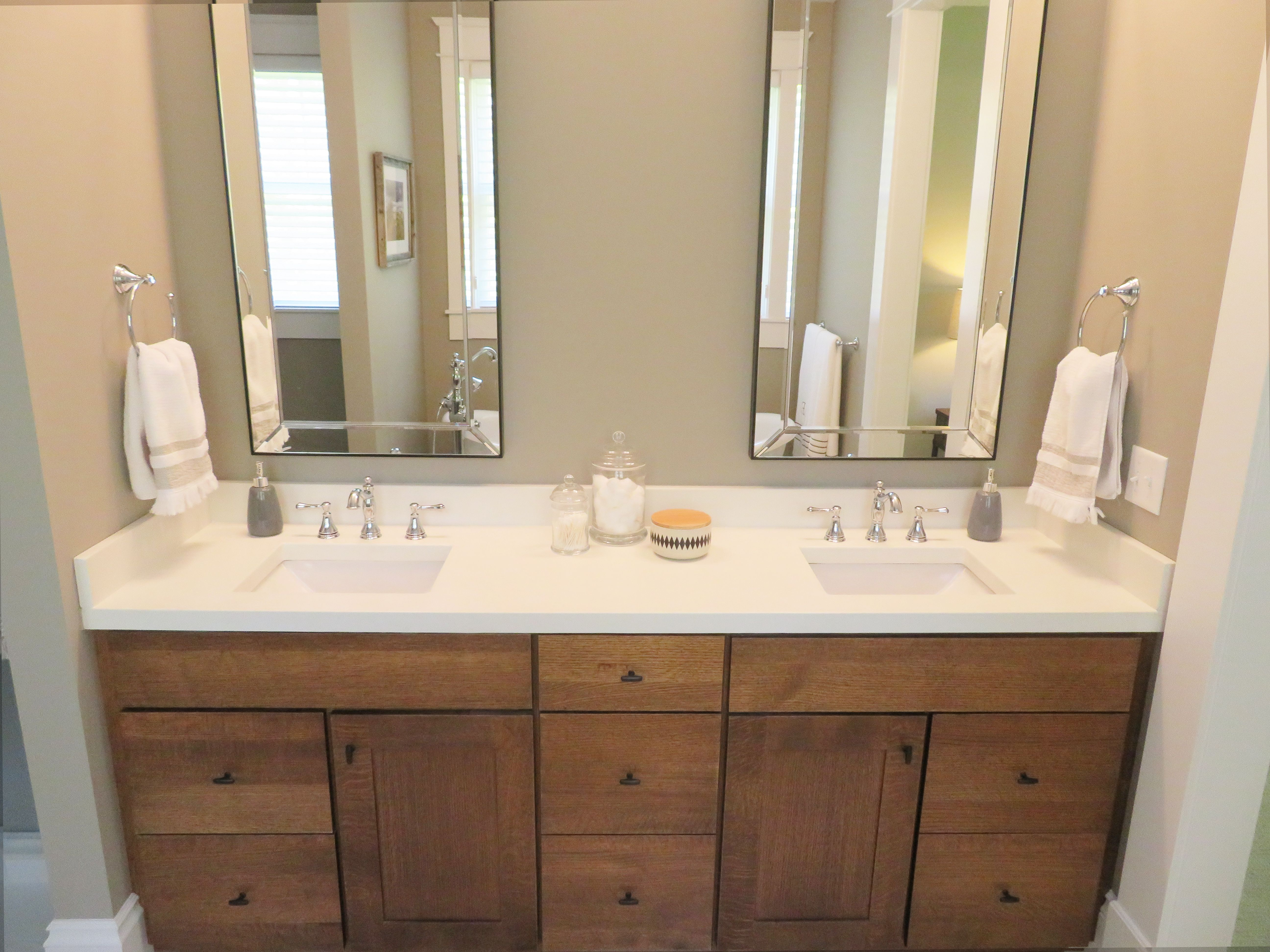 Woodland Cabinetry in Quarter Sawn Red Oak | Bathroom ...
