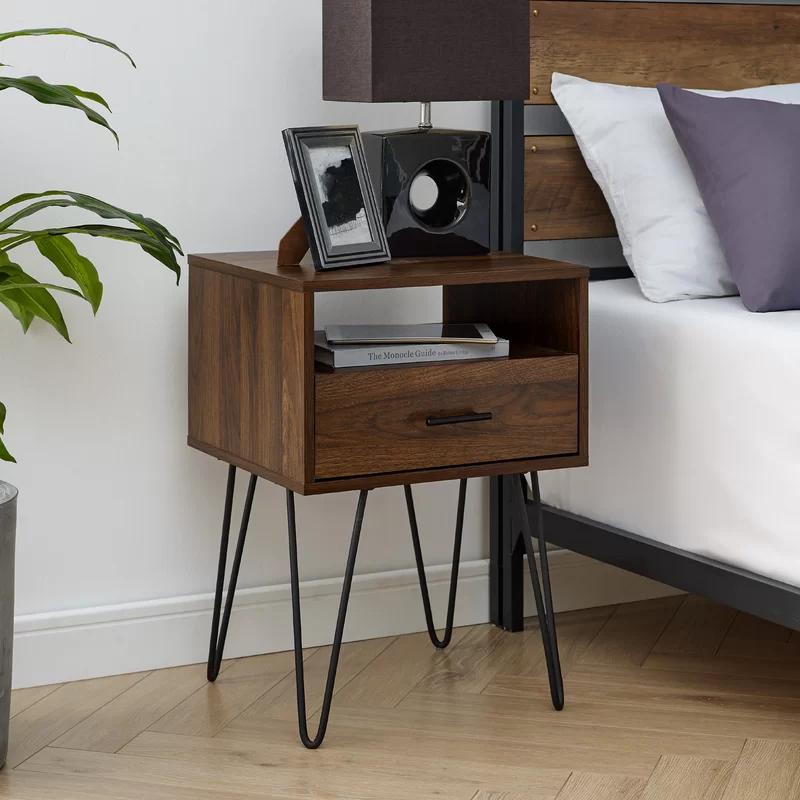 18+ Dark wood bedside table trends