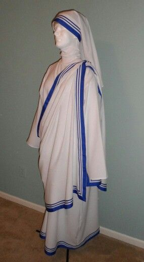 Womens Mother Teresa Nativity Saint of Calcutta Fancy Dress Costume