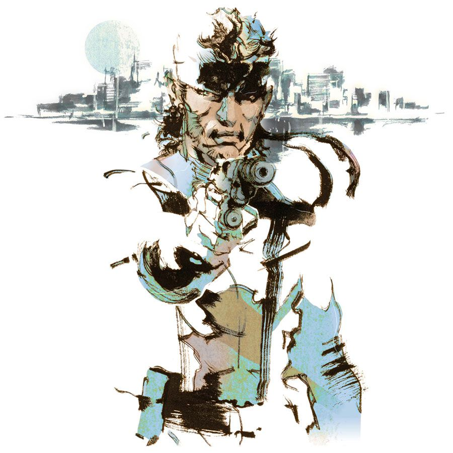 Solid Snake Illustration From Metal Gear Solid 2 Metal