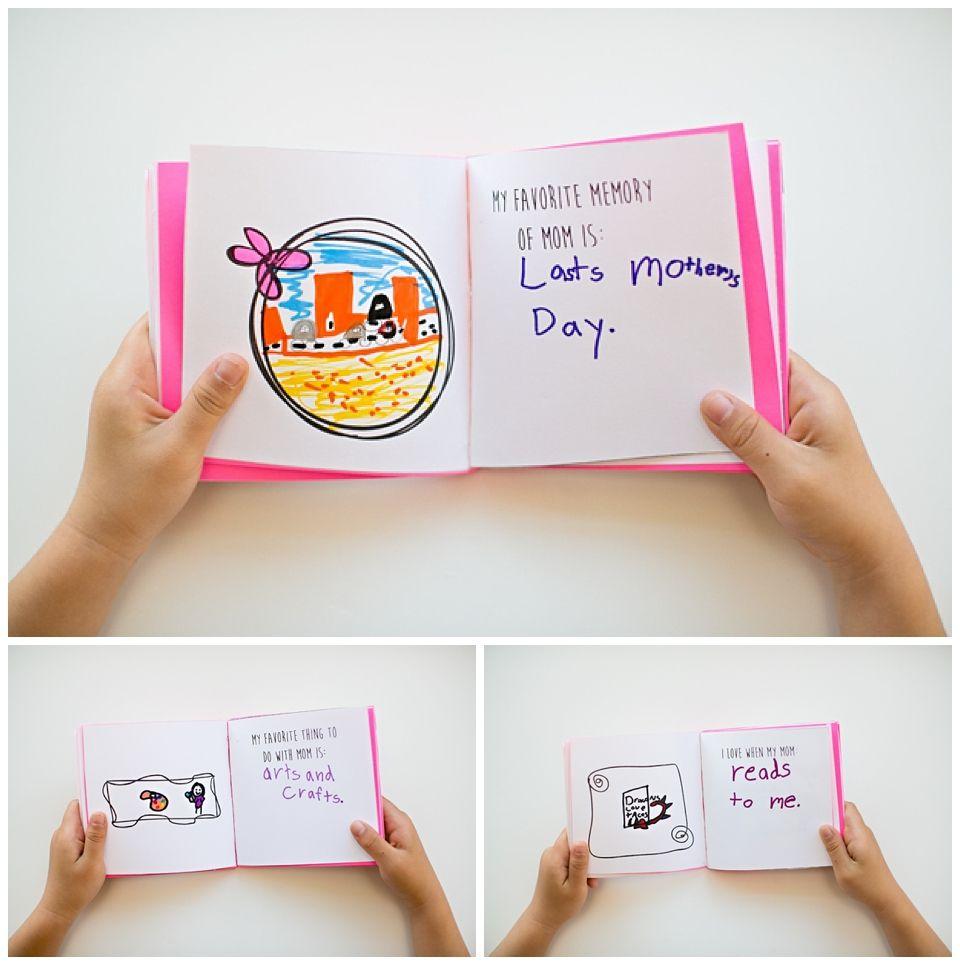 kid made free printable mother u0027s day book kids u0027 mother u0027s day
