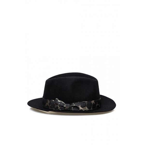 Salvatore Ferragamo Classic Trilby Hat (€130) ❤ liked on Polyvore featuring accessories, hats, trilby hat, salvatore ferragamo, brimmed hat and bow hat