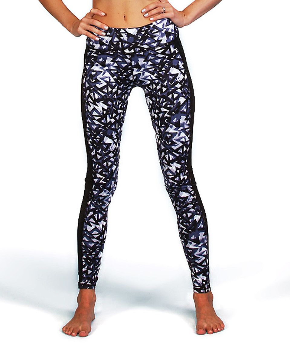 455fa5a010d2d Love this Mono B Activewear Gray & Purple Triangle Leggings by Mono B  Activewear on #zulily! #zulilyfinds