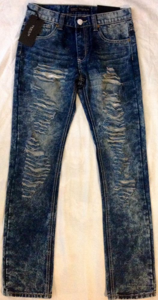 b1eea27c77 TRACK 23 MEN FASHION RIPPED DENIM SKINNY FIT JEANS PANTS 36/34 #TRACK23  #SlimSkinny