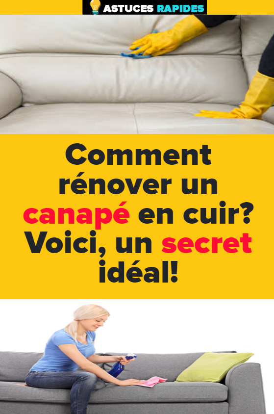 Comment Renover Un Canape En Cuir Voici Un Secret Ideal Canape Cuir Renover Son Canape Nettoyage Cuir
