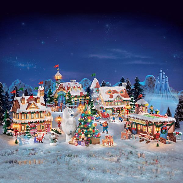 Rudolph Christmas Village.Rudolph The Red Nosed Reindeer Holiday Village Collection