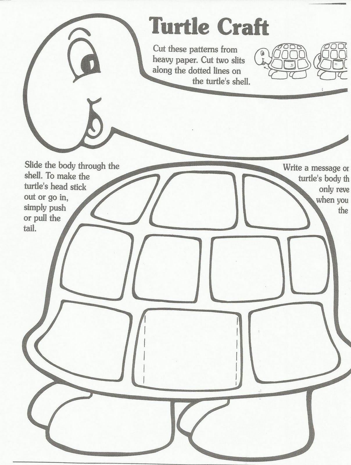 Preschool Turtle Craft Template