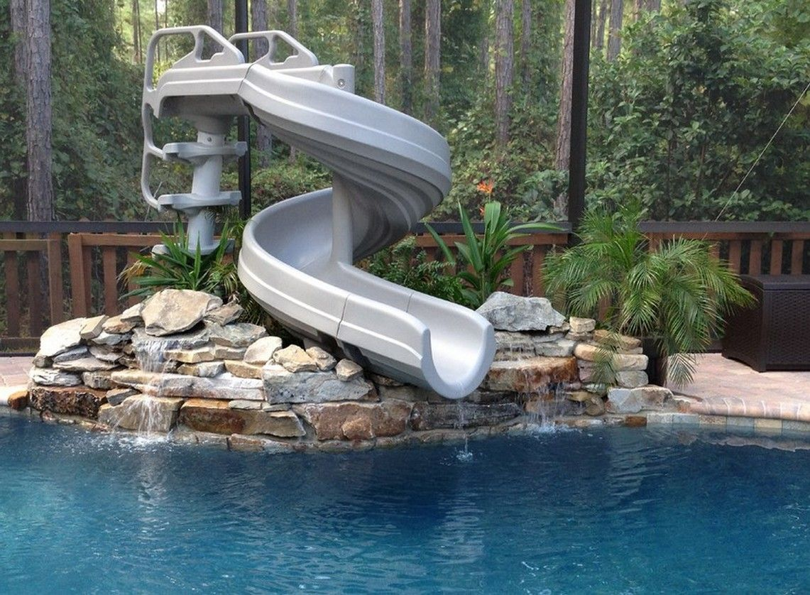 Pool Slides For Inground Pools On Sale Home Landscaping