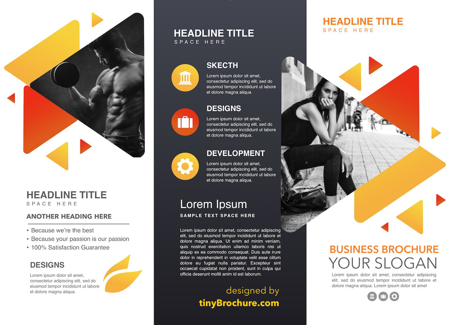 3 Panel Brochure Template Google Slides With Three Panel Brochure Template Professional Brochure Template Trifold Brochure Template Travel Brochure Template
