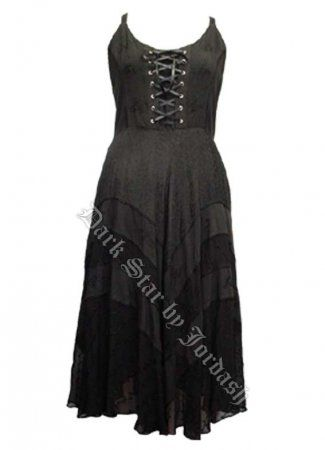 dark star plus size black gothic corset long gown jd/dr