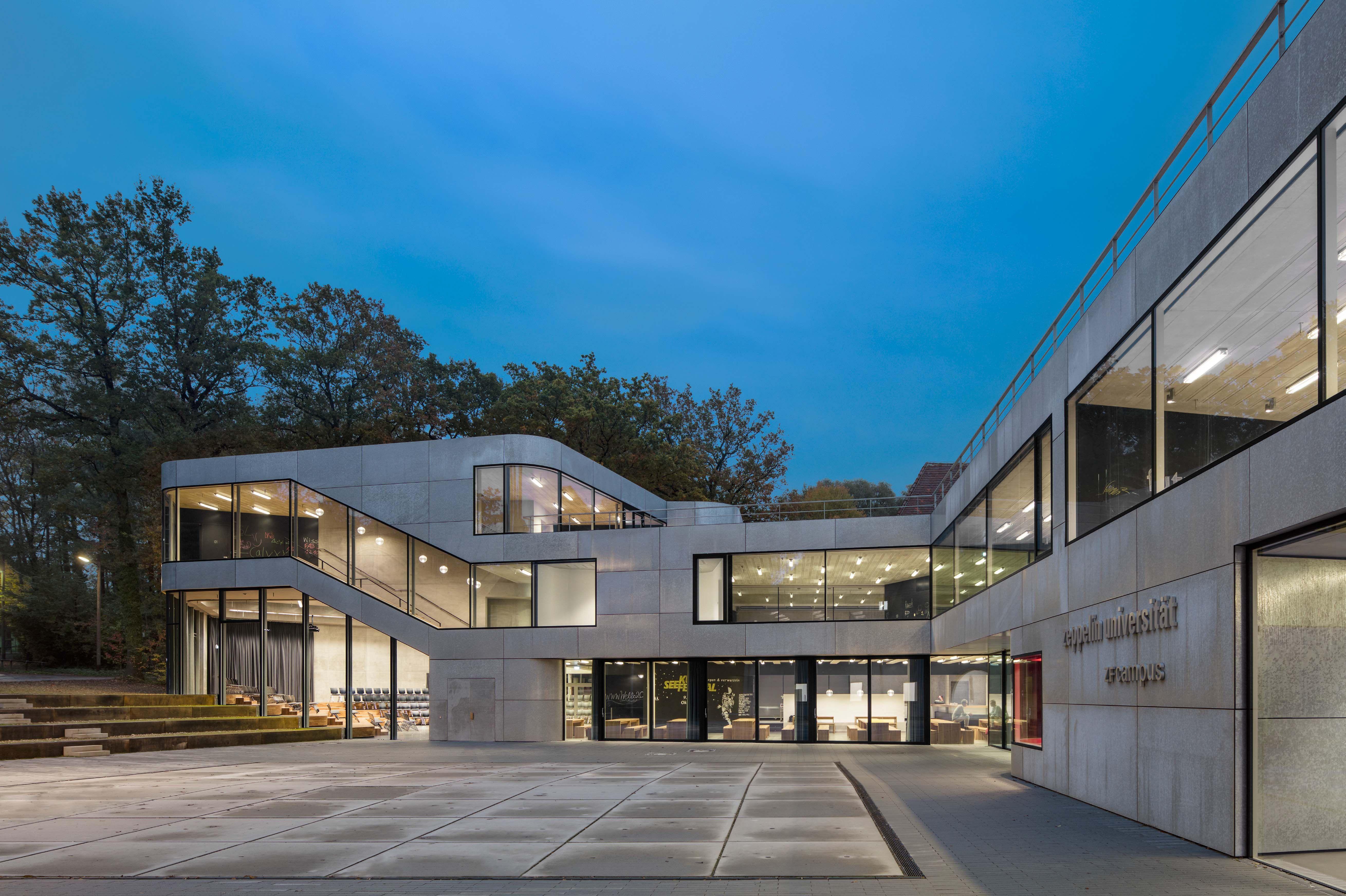 Neuer Hauptcampus Der Zeppelin Universitat Friedrichshafen Mit Feuerverzinkter Fassade Architekten As If Architekten Berlin Style At Home Fassade Architekt