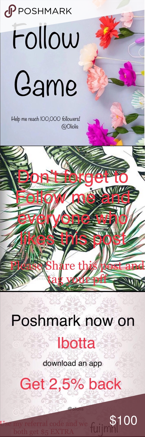 Like, Follow, Share! Like, Follow, Share! IBOTTA app type