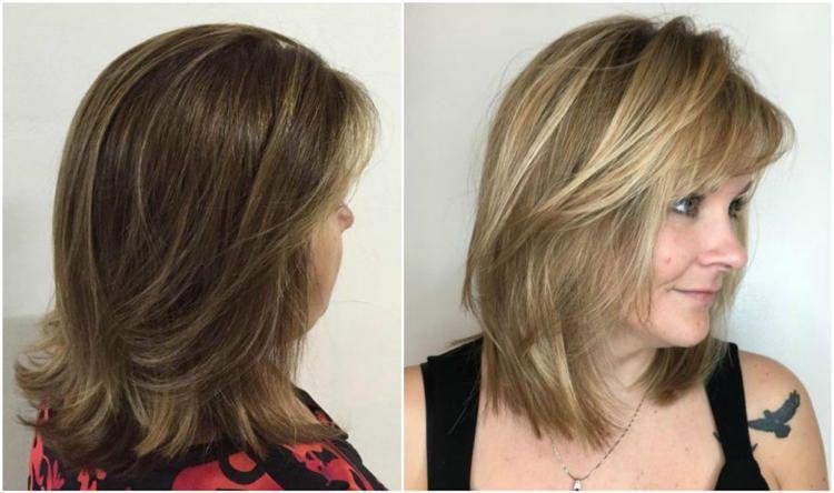 modische frisuren für frauen ab 50 und haarfarben, die