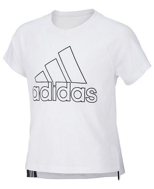 adidas Girls' Young Girls Winner T Shirt White